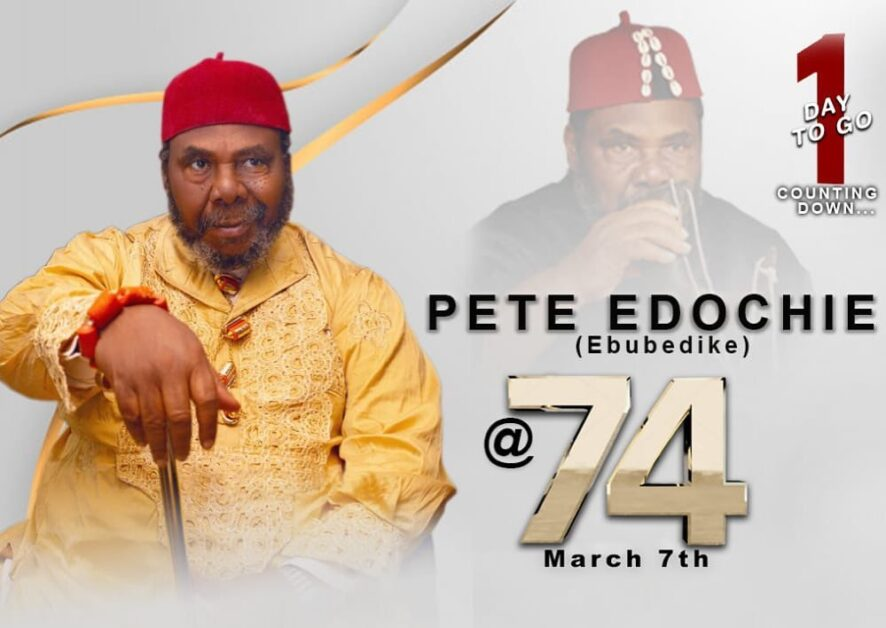 Veteran Nollywood Actor Pete Edochie Clock 74 Today (Photos)