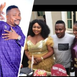 Actor Segun Ogungbe's Two Wives Shower Prayers On Him, As He Celebrates His Birthday Today.