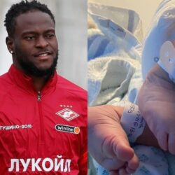 Nigerian footballer, Victor Moses welcomes baby