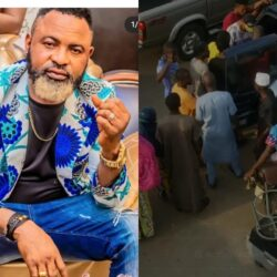 Popular Yoruba Actor, Akin Olaiya Shares Food To People During Iftar