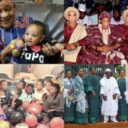 Photos Of Alaafin Of Oyo Spending Quality Time With His 7 Wives and Children
