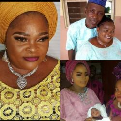 See Lovely Photos Of Yoruba Actress, Mama No Network Married Daughter, Her Husband & Grandchildren