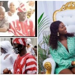 Beautiful pictures and Videos from Nikkah Wedding Ceremony of Pasuma's daughter, Oyindamola and Olajuwon Bello