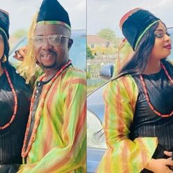 I Got Married To Actor Portable Today, Actress Laide Bakare Reveals As She Shares Wedding Photos On Movie Set