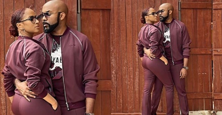 'Power couple'- Reactions as Banky W and Adesua step out in a matching outfit (video)