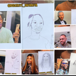 Checkout 40+ Funny Photos of  Odunlade Adekola and Other Nigerian Celebrities Drawn by an Artist using Pencil
