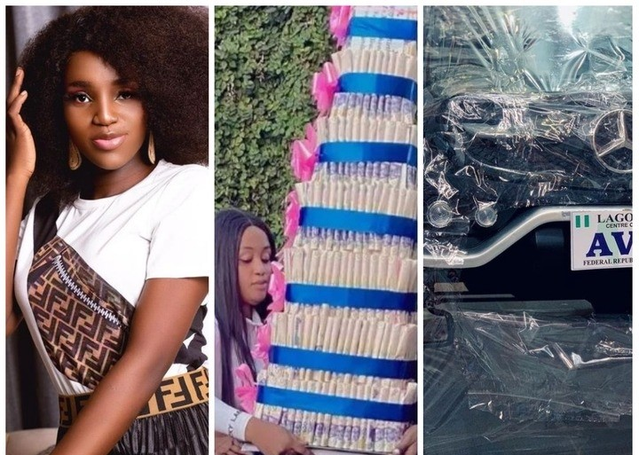 Nollywood Actress Bukunmi Receives Mercedes Benz And Money Cake From Her Fans As A Birthday Gift