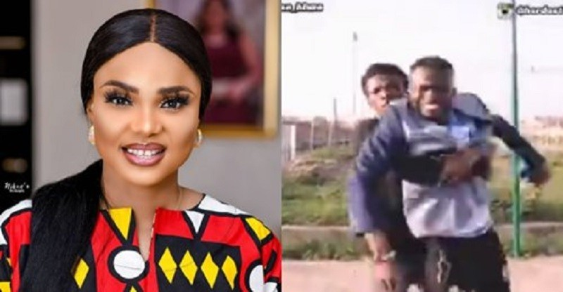 Yoruba Actress Iyabo Ojo Reacts After Two Guys Threatened To Beat Her Up If She Does Not Give Them 10,000 Naira (video)