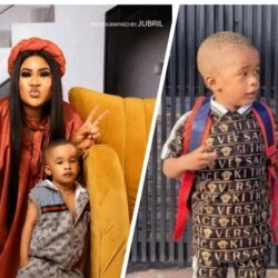 Congratulation to Actress Nkechi Blessing's Son, Novah  as he Starts School Today.
