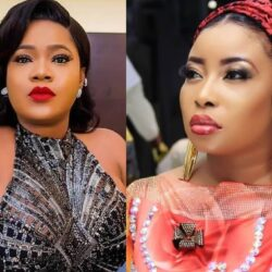 """""""Nobody Should Fight For Me"""" – Toyin Abraham Slam Fans Hurling Insults At Lizzy Anjorin"""