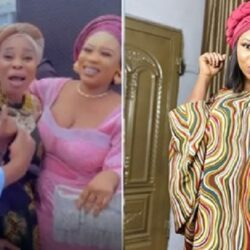 'My chest almost popped out' -Yoruba Actress Wunmi Toriola goes gaga as she meets Gospel singer, Tope Alabi (video)