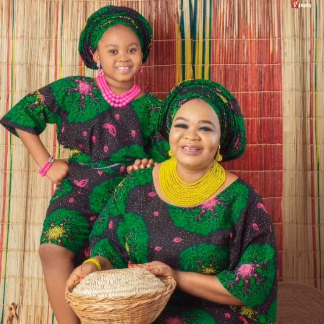 Bimbo Oshin and Daughter
