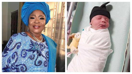 """""""Rejoice with me my people, I am a grandma again"""" - Veteran Waka Singer,Salawa Abeni says as she welcome another Grandson (photos)"""