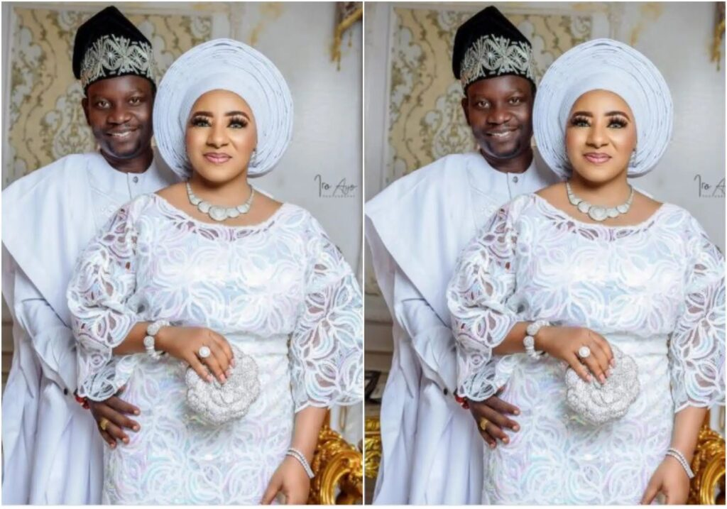 Actress Mide Martins and her husband Afeez Owo celebrate their 17th wedding anniversary