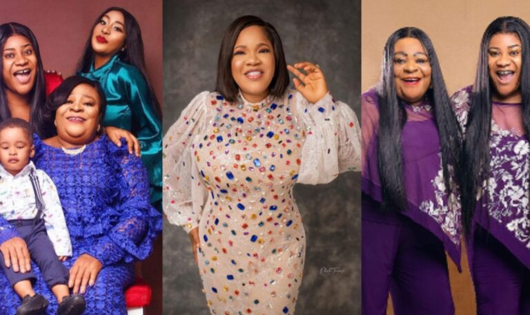 """""""You were such a wonderful mother"""" – Toyin Abraham prays for Nkechi Blessing's mum on her post-partum birthday"""