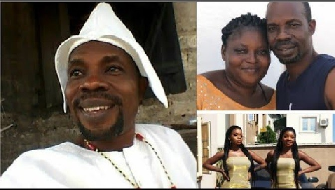 """Beautiful Pictures Of The Yoruba Actor """"Oluwo"""", His Wife, Daughter And Granddaughter"""