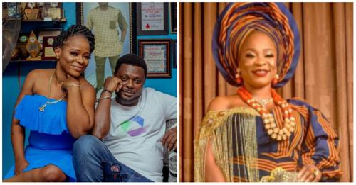 'I won't leave him, even if he gets every woman pregnant' – Wife of Yoruba Actor, Kunle Afod blasted a troll who said her husband is having an extramarital affair