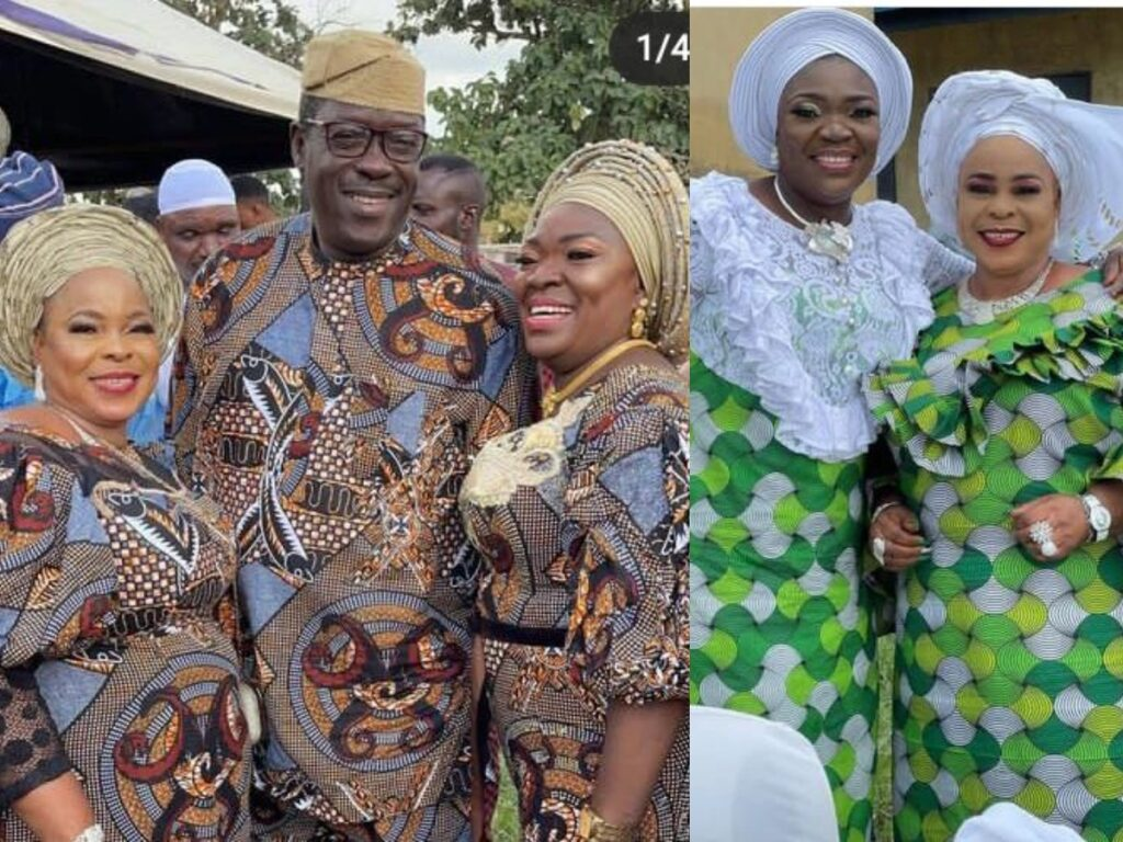 Veteran Actor, Ogogo And His Two Beautiful Wives Stun In Matching Outfits